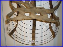 Antique Victorian 1800's Dress Bustle Wire Cage Hoop Skirt/Civil War/Hour Glass