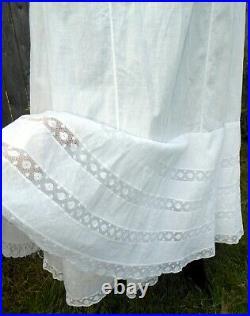 Antique Victorian Edwardian Gibson Girl S-Bend 9-Gore Princess Slip Petticoat