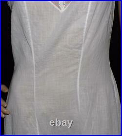 Antique Victorian Edwardian White Dress Gown Full Slip Corset Cami Petticoat S M