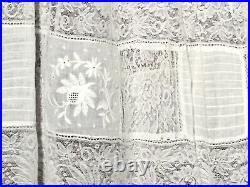 Antique Victorian Woman Undergarment Slip Petticoat Wedding Dress Underskirt