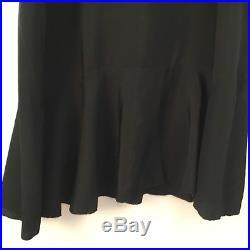 Antique Vintage 1910s 1920s Silk Velvet Long Dress Matching Silk Slip Lace