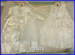 Antique Vintage White Baby Doll Wedding Christening Dress, Slip, Viel