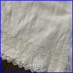 Antique vintage 1930s edwardian cotton lacey slip dress petticoat