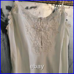 Authentic Christian Dior beautiful white early 1990s satiny slip dress