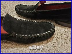 Authentic Vintage Savaltore Ferragamo Suede Slip On Loafers Size 8 Men