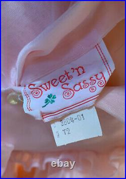 BEAUTIFUL VINTAGE SWEET N SASSY Sheer Pink Party Dress/Slip/Excellent/Size 2T