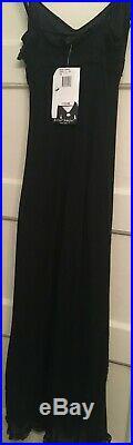 BETSY JOHNSON Black Lace Slip Dress/Flower Vintage ClassicSz SNWT $172CUTE