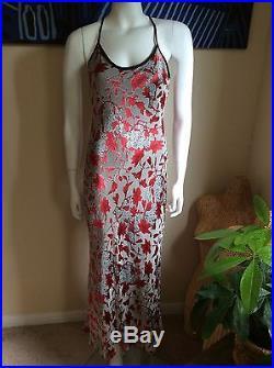 BETSY JOHNSON Vintage Rayon/Silk Blend Floral Print Slip Dress Size M