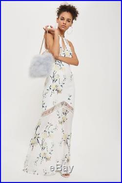 BNWT Hope & Ivy @ Topshop Vintage Floral Fish Tail Romance Slip Dress 10