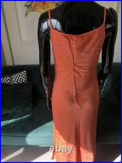 BNWT Vintage Ghost Coral Slip Dress Size XS Summer 80s 90s