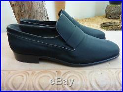 Bally Slip On Shoes Mens Switzerland Black Vintage Tuxedo Formal Dress US10