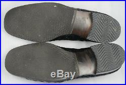 Bally Switzerland Mens Dress Shoes 7.5 Black Ostrich Slip-On Loafer Vintage EUC