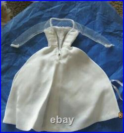 Barbie Vintage Original #1698 Beautiful Bride 1967 TLC Dress Slip Gloves Bouquet