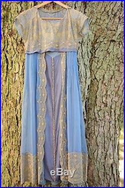 Beautiful 1920's/30's Dress ensemble, Tabard and slip