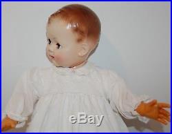 Beautiful 30 1960's Effanbee doll in Eyelet Lace Christening dress, hat & slip