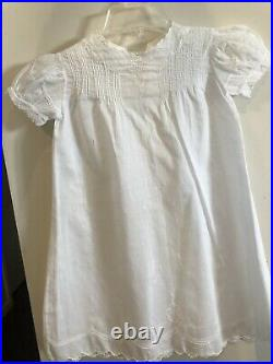 Beautiful Victorian Hand Embroidered Baby Christening Gown & Slip Infant Dress