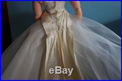 Beautiful Vintage Tagged Madame Alexander Cissy 1957 Bride Dress & Slip No Doll