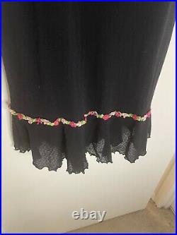 Betsey Johnson Black Slip Dress, 90s vintage