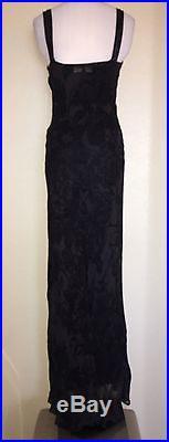 Betsey Johnson Long Maxi Floral Sheer WithSlip Dress Vtg 90s M