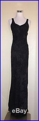Betsey Johnson Long Maxi Floral Sheer WithSlip Dress Vtg 90s M
