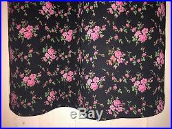 Betsey Johnson Never Worn Vintage Floral Print Black Slip Dress Size Small