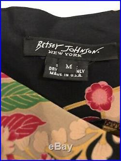 Betsey Johnson New York Rare 100% Silk Vintage 90s 1990s Japanese Slip Dress M