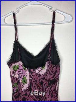 Betsey Johnson VINTAGE Dress Rose TATTOO FRANKY Slip S