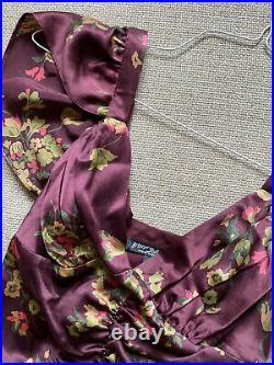 Betsey Johnson Vintage Silk Biased Cut Dress M Black Label
