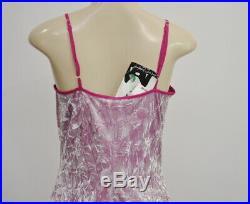 Betsey Johnson Vintage Slip Dress Size Medium M Crushed Velvet Lilac NWT