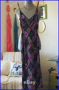 Betsey Johnson Vtg 90s Silk Floral Slip Dress NWT XXS P 00
