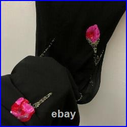 Betsey Johnsons Vintage 90s Silk Slip Sequin Dress Size 8
