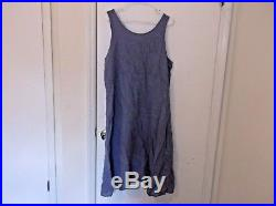 Blue Fish Linen Tank Slip Blue Dress Vintage 2