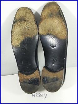 Bruno Magli Soft Black Leather Slip On Loafers 10M Mens Dress Shoes Vintage