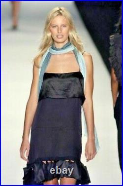 CHLOE SILK DRESS black Vintage PHOEBE PHILO RUNWAY T38 S M 6 8 COLLECTOR! LBD