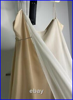 Calvin Klein Collection VINTAGE RARE 90s Minimalist Silk Slip dress Kate Moss
