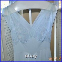 Capricious 36 Vanity Fair Hollywood Glam Nightgown Slip Dress USA Bombshell