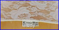 Christian Dior Slip Dress 1980s Sheer 3 Tulle Crinolines Polka Dots and Lace