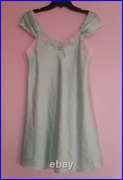 Christian Dior Slip Dress Lingerie Mint Vintage Romantic Intimates