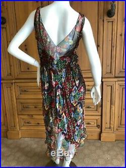 Christian Dior by John Galliano 2001 Art Nouveau Print Silk Dress & Slip
