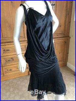 Christian Dior by John Galliano Black Silk Slip Dress Fall 2010
