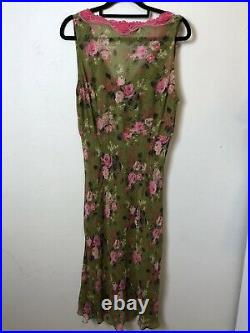 Collette Dinnigan Vintage 90s Bias Cut Slip Dress One Size