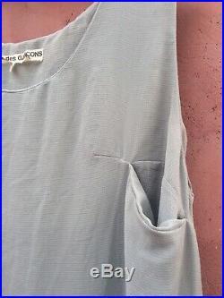 Comme des Garcons AD 1992 90s Vintage Dress sz M Asymmetric hem semisheer slip