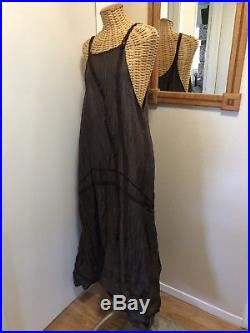 Cynthia Ashby Vintage Slip Dress Mussell Small