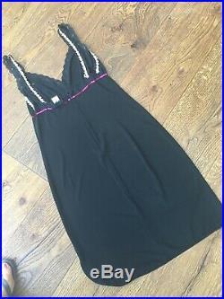 D&G Dolce & Gabbana Black Hugging Slip Dress Vintage Busti Strappy Size 44 Uk12