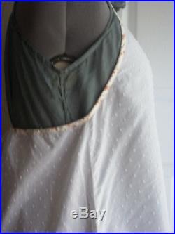 DARLING Vintage Krista Larson flocked dot Flounce Slip Dress layering