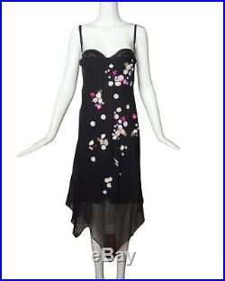 DOLCE & GABBANA-1990s Black Chiffon Slip Dress, Size-8