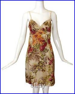 DOLCE & GABBANA-1990s Floral Silk Slip Dress, Size-6