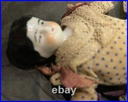 DOLL with FABULOUS DRESS SLIP PANTALOONS 7 Antique China Head Dollhouse Germany