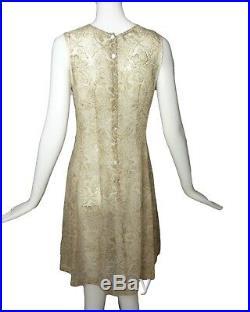 DRIES VAN NOTEN-1990s Printed Silk Mesh Dress, Size-4