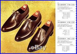 Deadstock NOS 1969 Vintage Florsheim Chevron Black Dolce Calf Slip Ons 8D